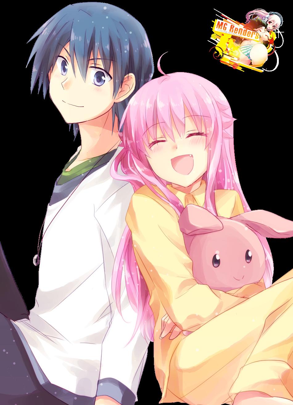 Yui & Hinata Hideki Render - Anime - PNG Image (Without